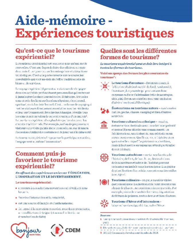 PDF Expériences touristiques